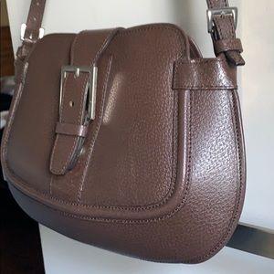 Brown Leather shoulder bag Cristian